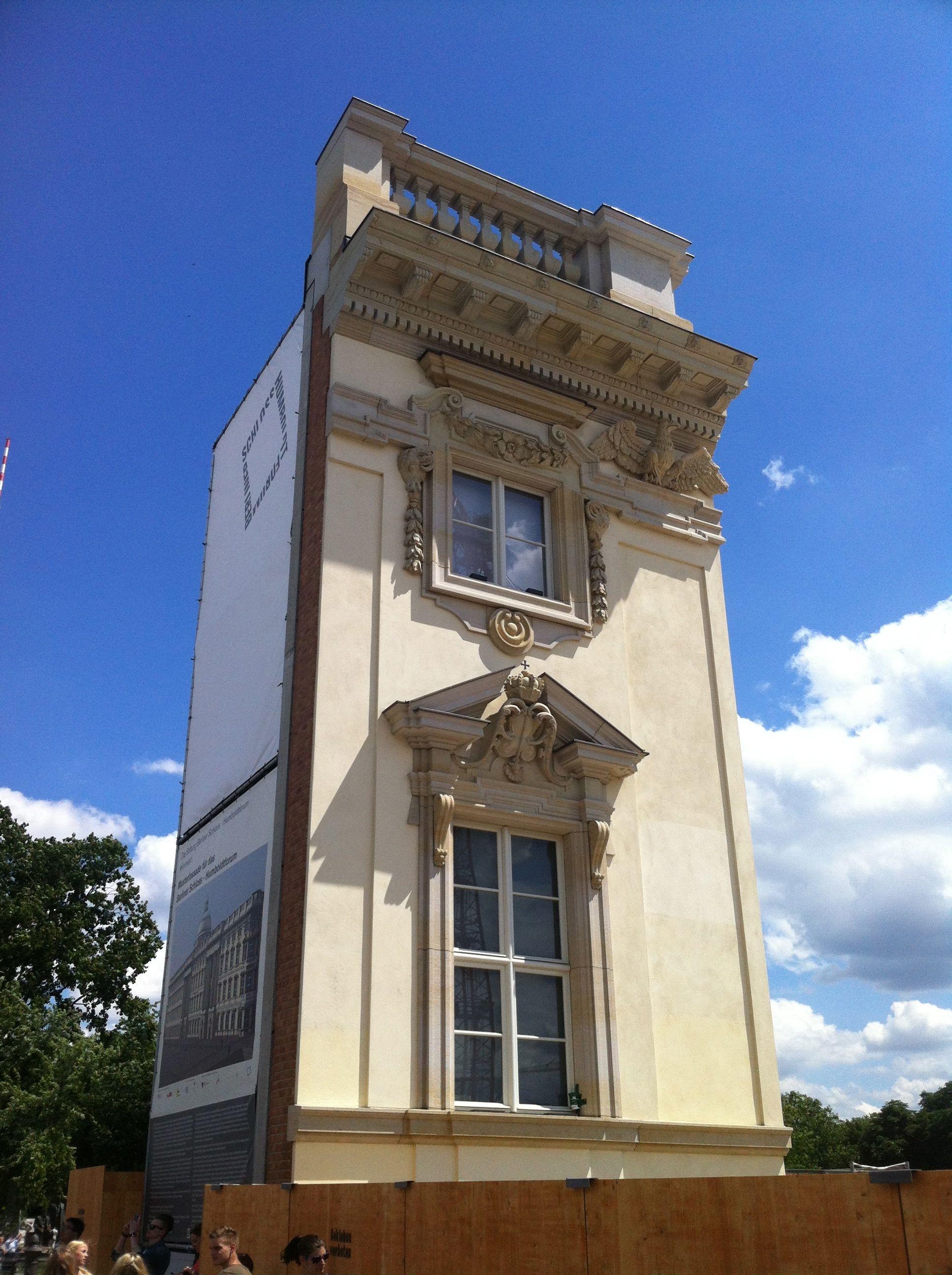 Fassadenelement des zukünftigen Berliner Stadtschlosses
